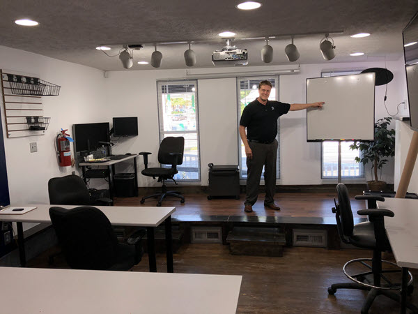 Derek in Learning Room at Click IT