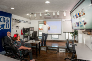 Learning How to Run a Click IT Store at Click IT Headquarters in Chagrin Falls, Ohio