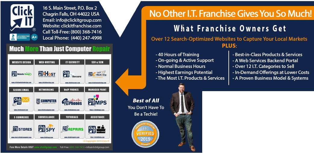What a Click IT Franchise Owner Gets